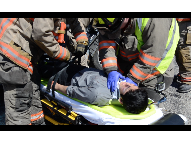 Romeoville Students Stage Mock Crash