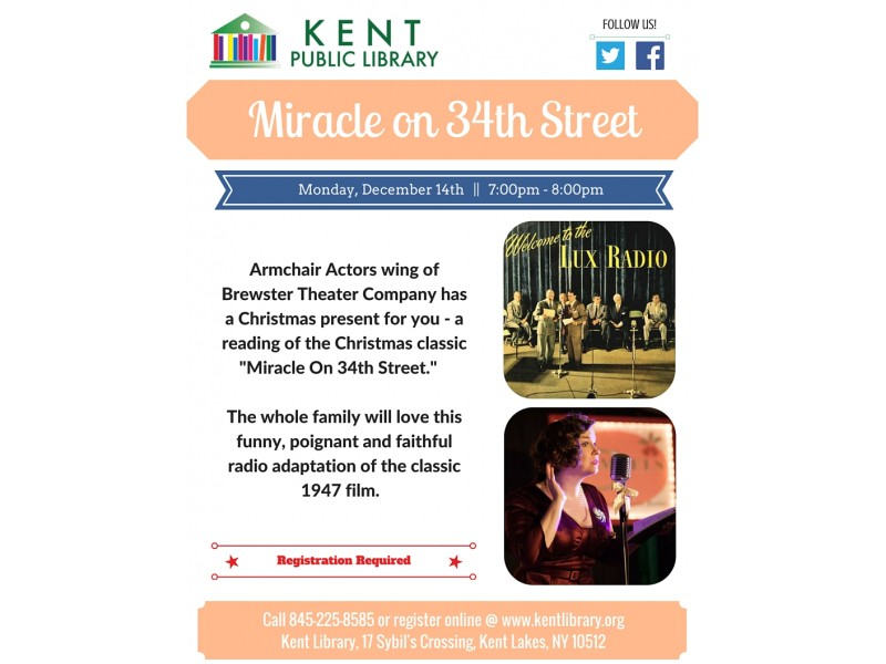 """""""Miracle on 34th Street"""" at The Kent Public Library ..."""