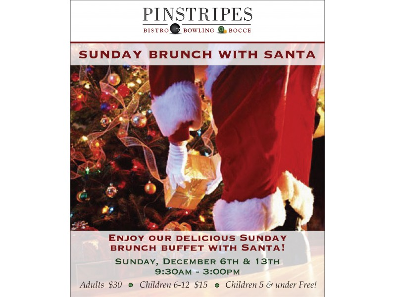 Sunday Brunch With Santa at Pinstripes Bistro Oak Brook Downers
