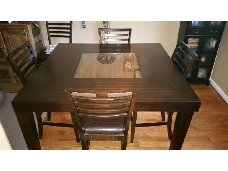 Wooden Bar Height Dining Table For Sale 0