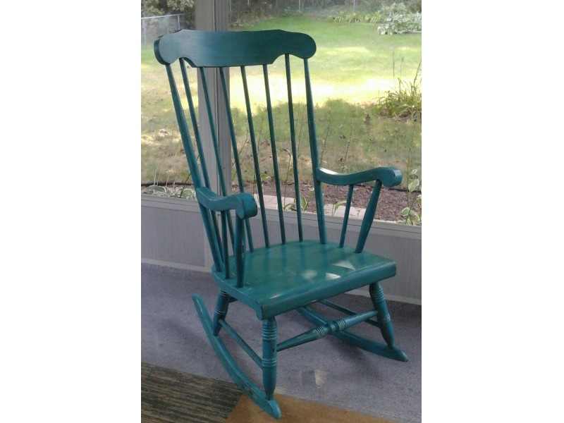 Good ... VINTAGE CHALK PAINTED ROCKING CHAIR 0 ...