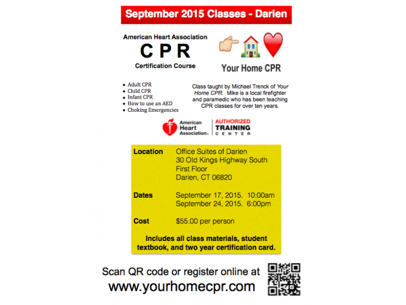 Cpr Certification Classes In Darien Darien Ct Patch