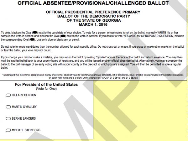 Absentee Voting For SEC Presidential Primary Begins in Georgia ...