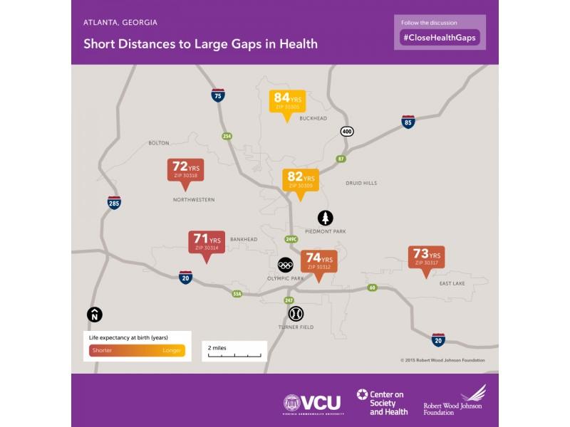 Cascade Sw Atlanta Zip Codes Have Lower Life Expectancies Cascade