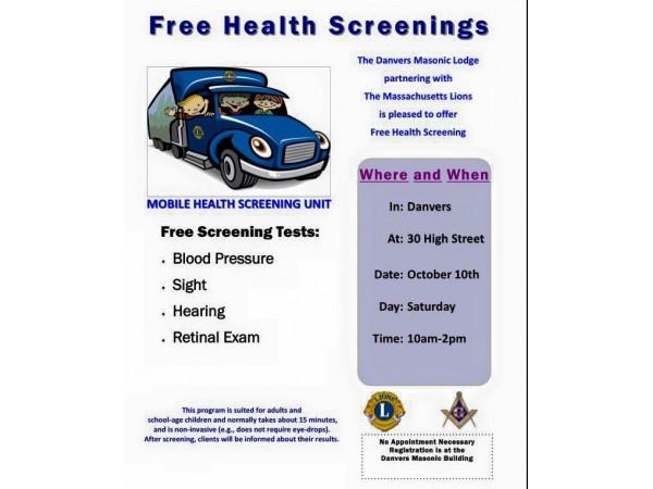 Free Health Screenings - Danvers, MA Patch