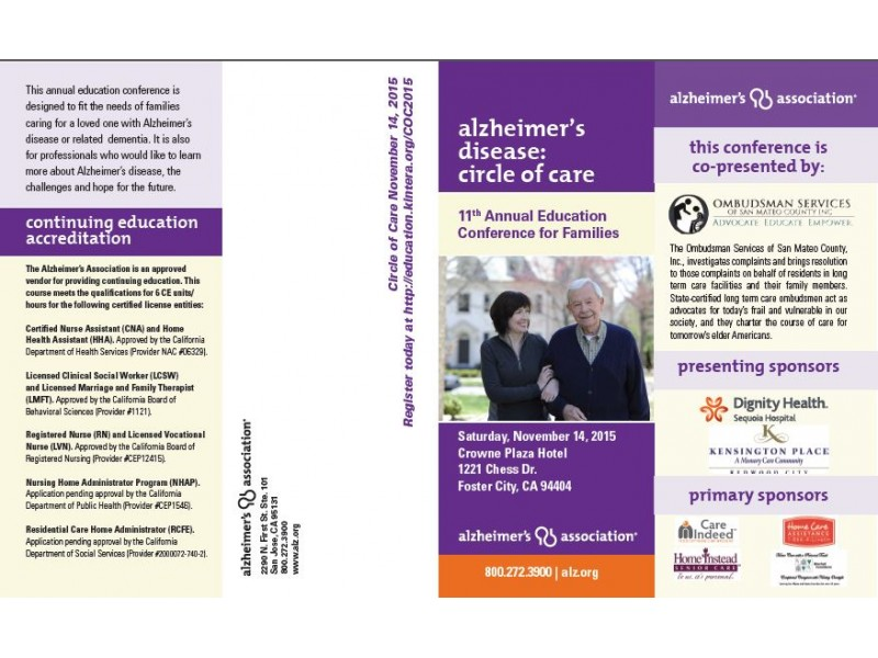 Alzheimers Disease Circle Of Care Conference For Families Foster