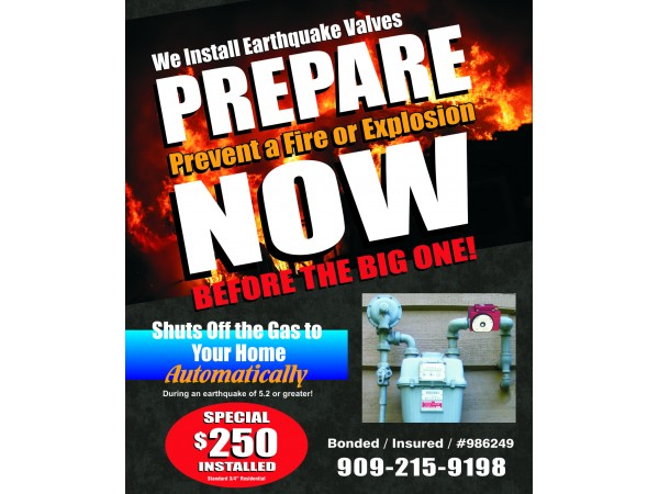 Where can you find instructions to install an earthquake gas shutoff valve?