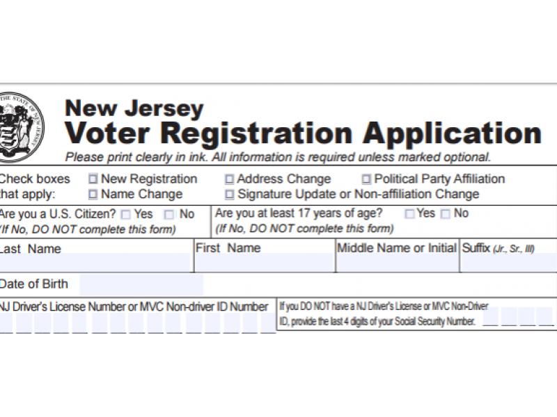 Updating voter registration in nj