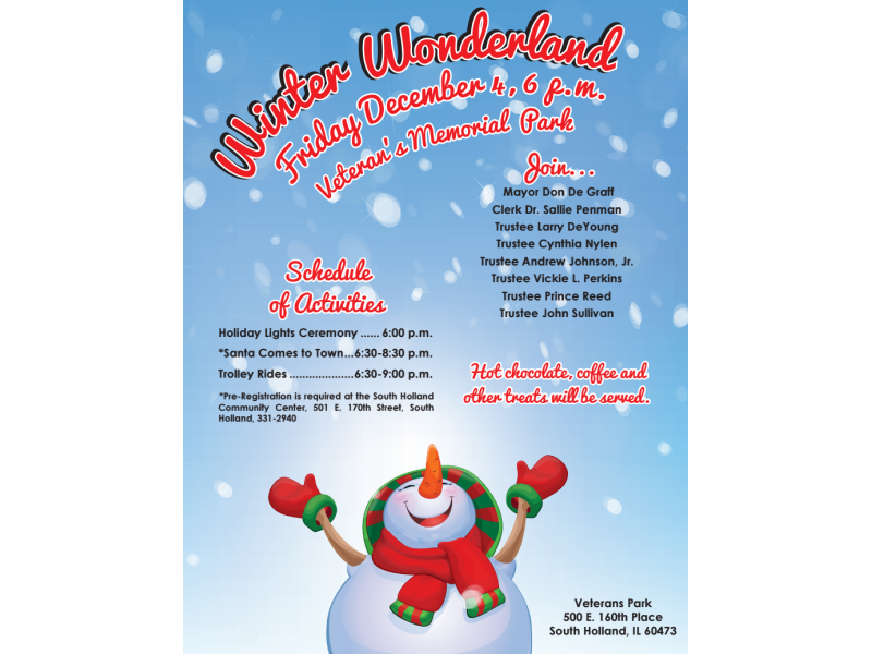 Village of South Holland Winter Wonderland | Homewood, IL Patch