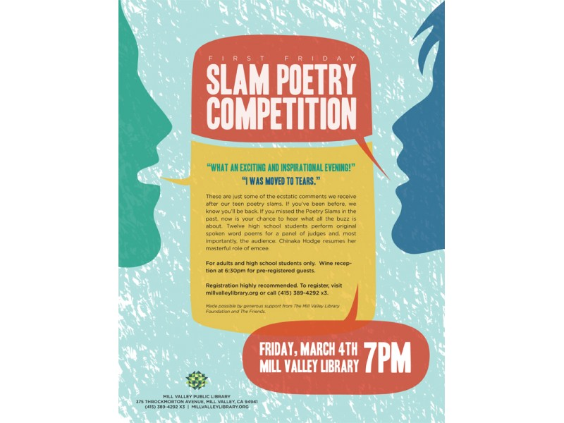 First Friday: Slam Poetry Competition | Mill Valley, CA Patch