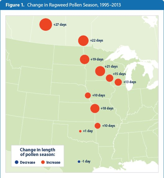 Allergy Season Why It Keeps Getting Worse Across America US Patch - Best place in us for allergies map