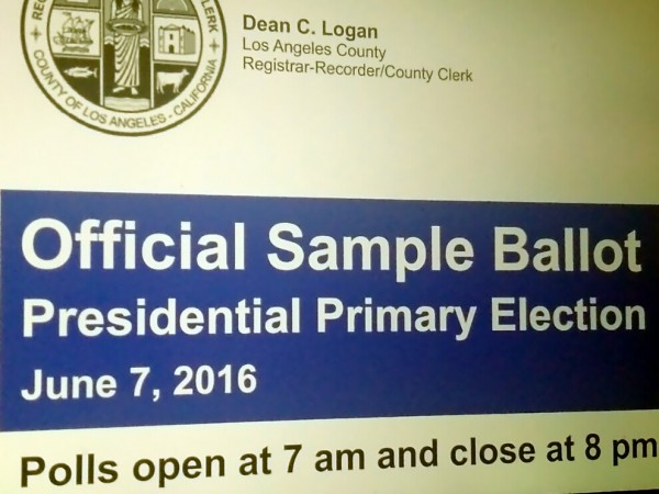 County Sending Out Sample Ballots for June Primary - La Cañada ...