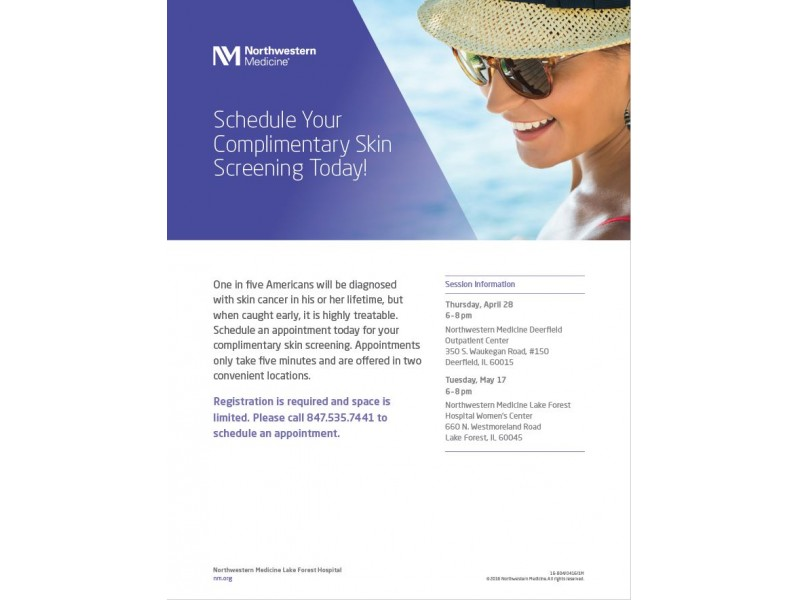 Complimentary Skin Screenings | Lake Forest, IL Patch