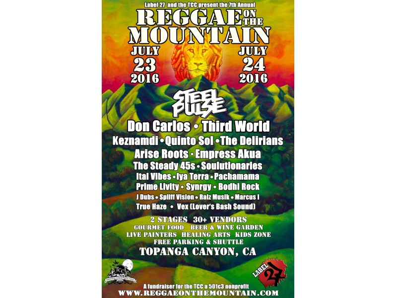 VOLUNTEERS NEEDED AT REGGAE ON THE MOUNTAIN! | Woodland Hills, CA Patch