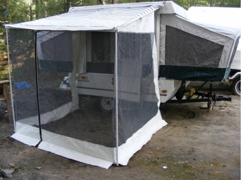 pop camping pin diy pinterest coleman up awning camper inexpensive