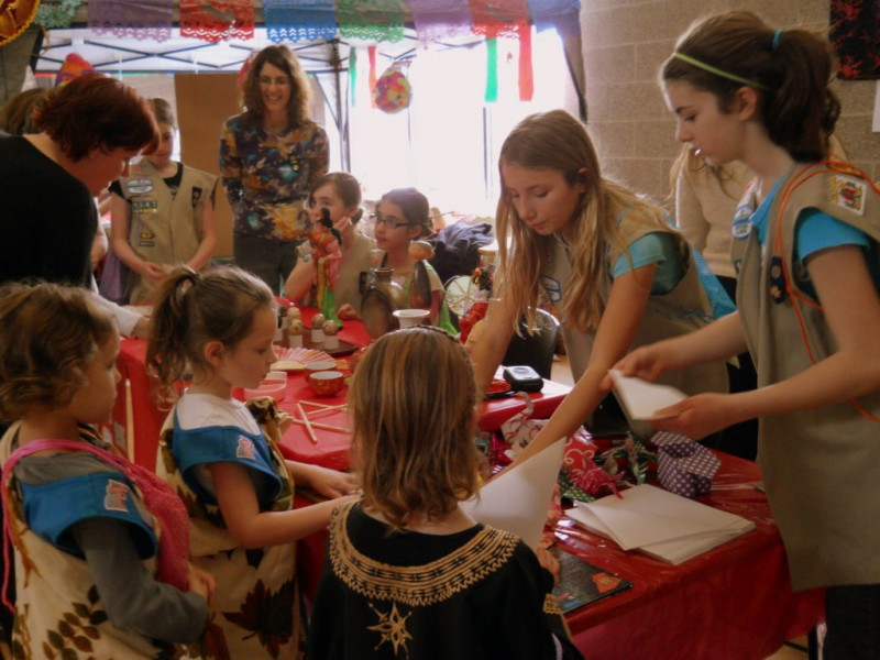 local girl scouts celebrate world thinking day