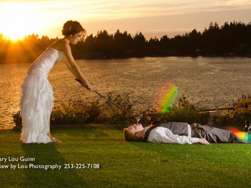 Golf Themed Wedding Gig Harbor Wa Patch