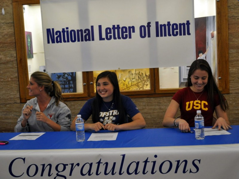 Schreiber Athletes Sign National Letter of Intent | Port Washington ...