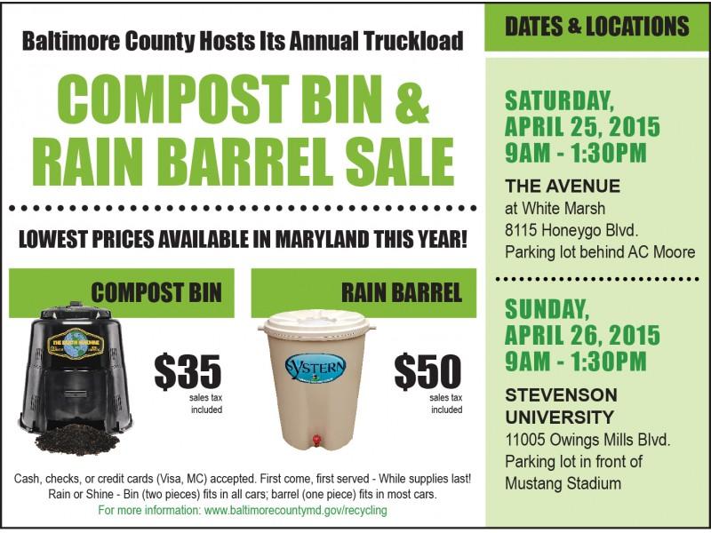 baltimore county hosts annual compost bin and rain barrel sale0