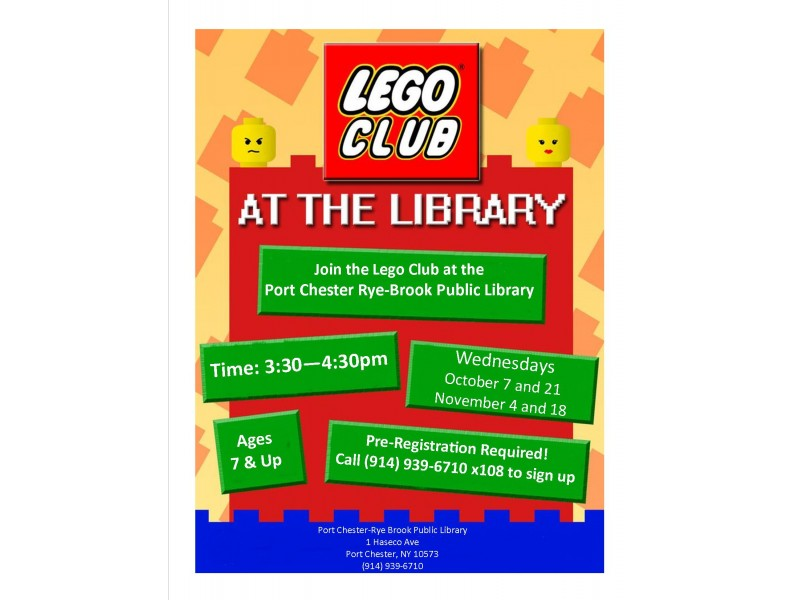 Lego Club at the Port Chester-Rye Brook Public Library | Port ...
