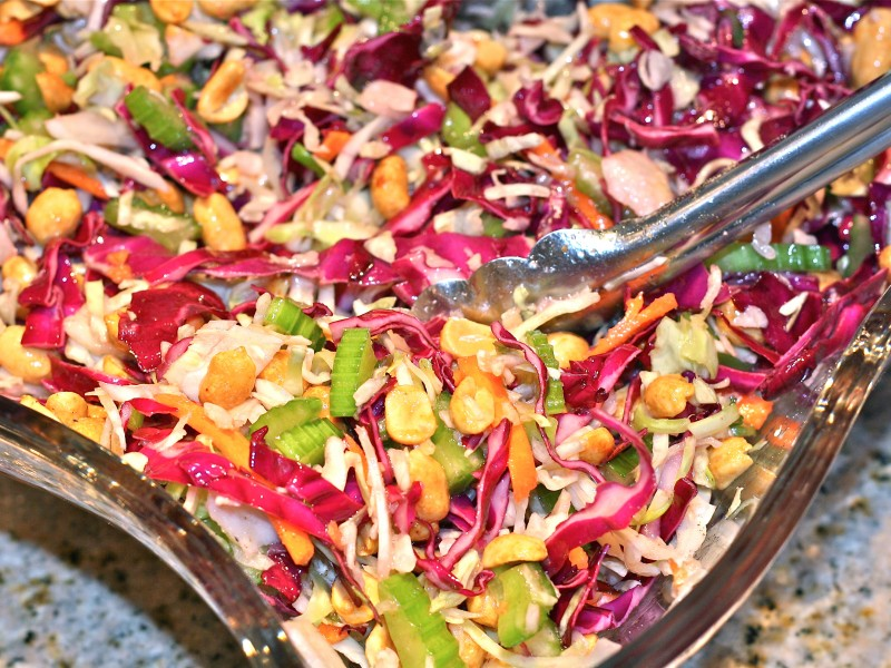 Recipe Provocateur: Wood Ranch's Peanut Coleslaw - Agoura Hills - Wood Ranch Agoura WB Designs