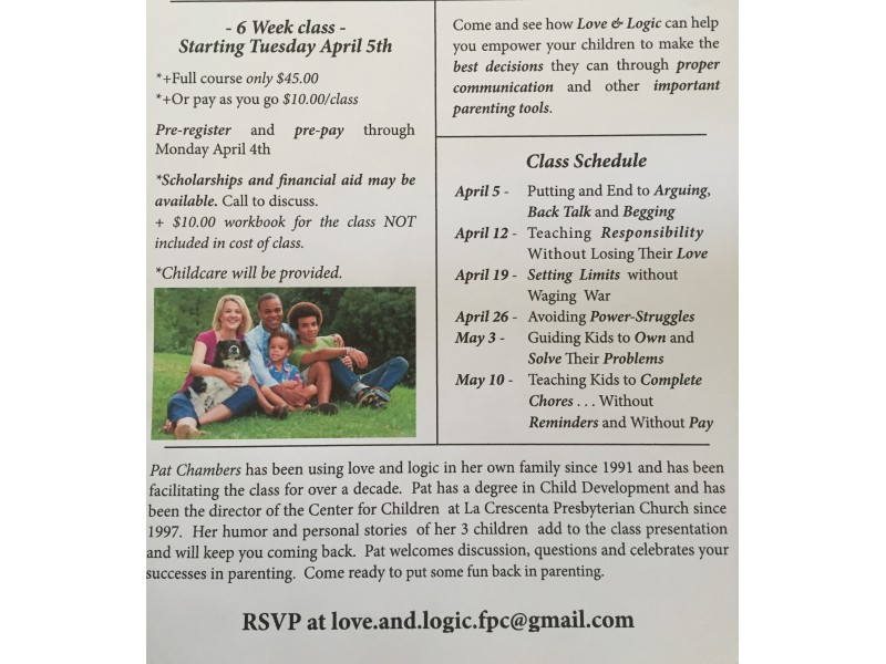 PARENTING CLASS- Love and Logic comes to Valley Village - Studio ...