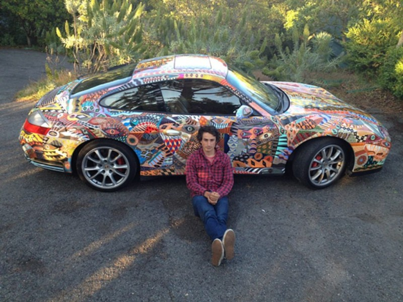 Zio ziegler turns a porsche into a mobile mural mill for Mobile auto painting