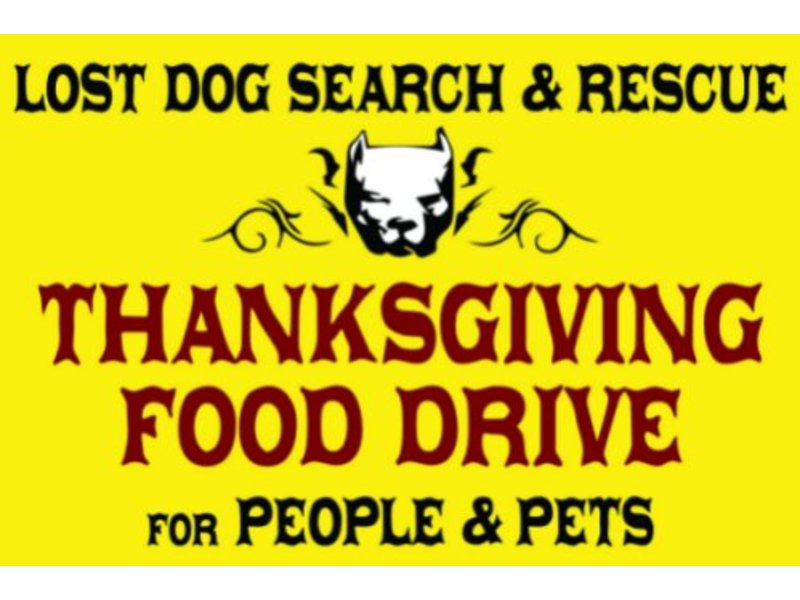 Thanksgiving Food Drive For People And Their Pets