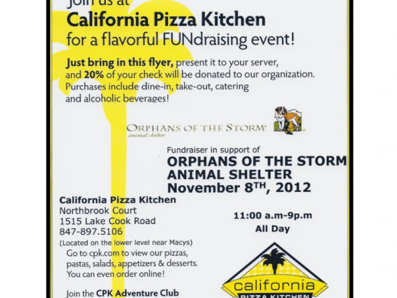 CALIFORNIA PIZZA KITCHEN / Northbrook Court FUNDRAISER FOR ORPHANS ...