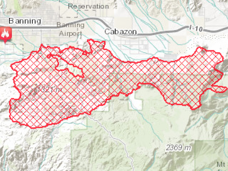 Updated Interactive Map Of Silver Fire Burn Area By Esri Of Redlands