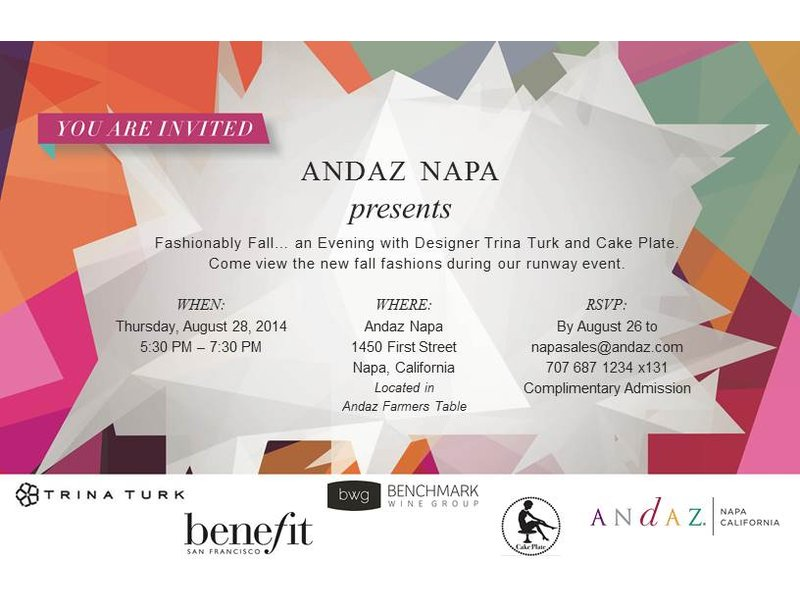 Fashionably Fall A Salon Event with Trina Turk and Cake Plate at Andaz Napa  sc 1 st  Patch & Fashionably Fall A Salon Event with Trina Turk and Cake Plate at ...