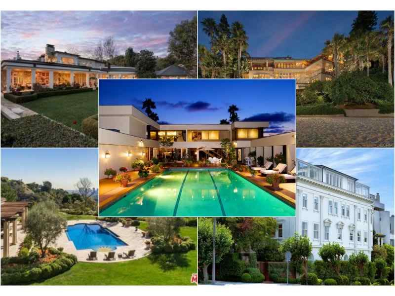 What Has 63.5 Bathrooms And Costs $205.5 Million? The 5 Most Expensive Homes  For Sale In California