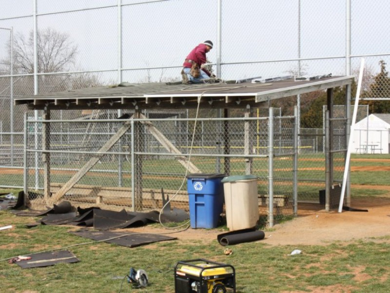 Chantilly Baseball Fields Get New Dugout Roofs Courtesy