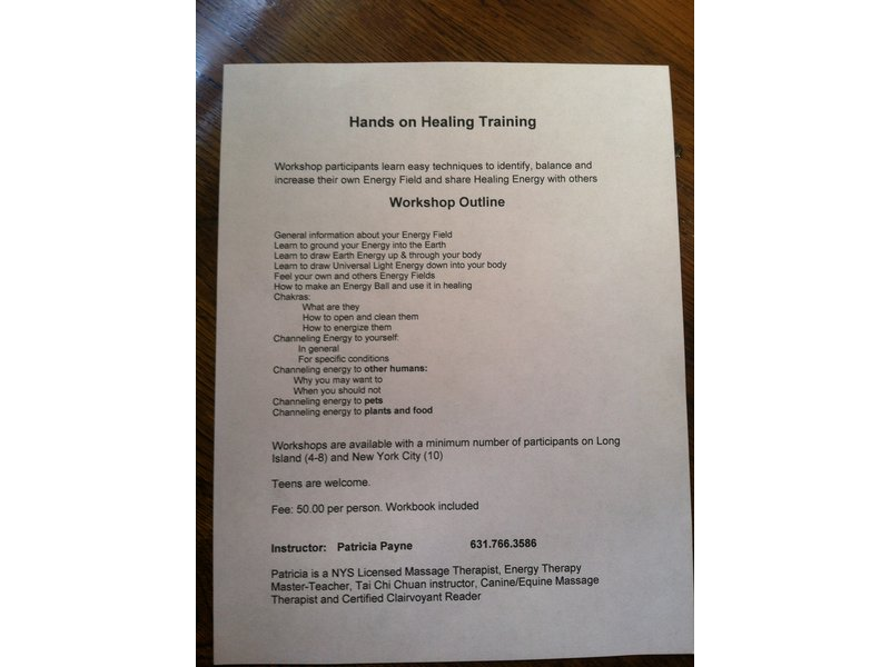 Hands on Healing Training | North Fork, NY Patch