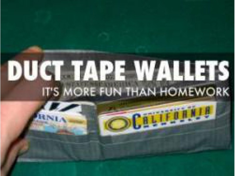 Get Crafty: Learn to Make a Wallet Out of Duct Tape