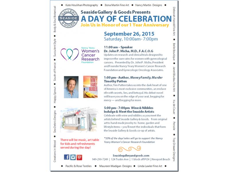 Seaside Gallery & Goods 1st Anniversary & Women's Cancer Awareness