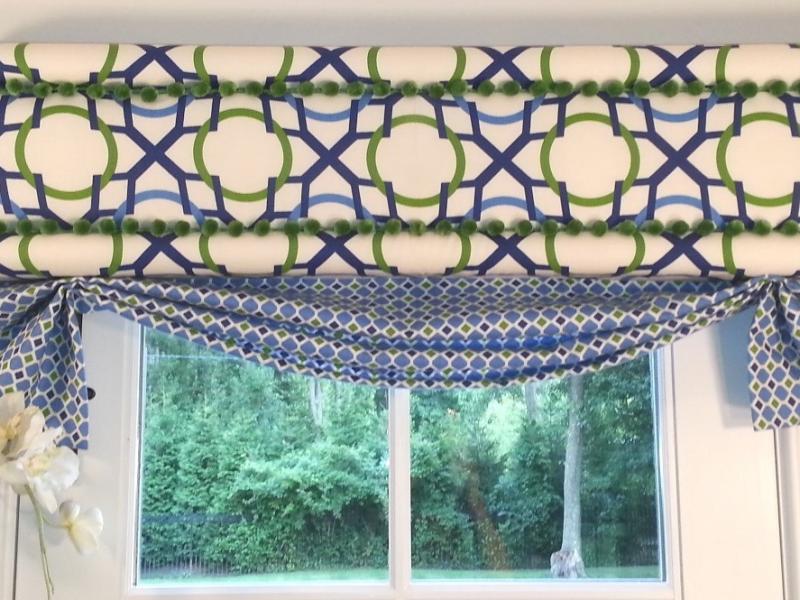 no sew window treatments teal nosew window cornice demo at fabricland summit nj patch
