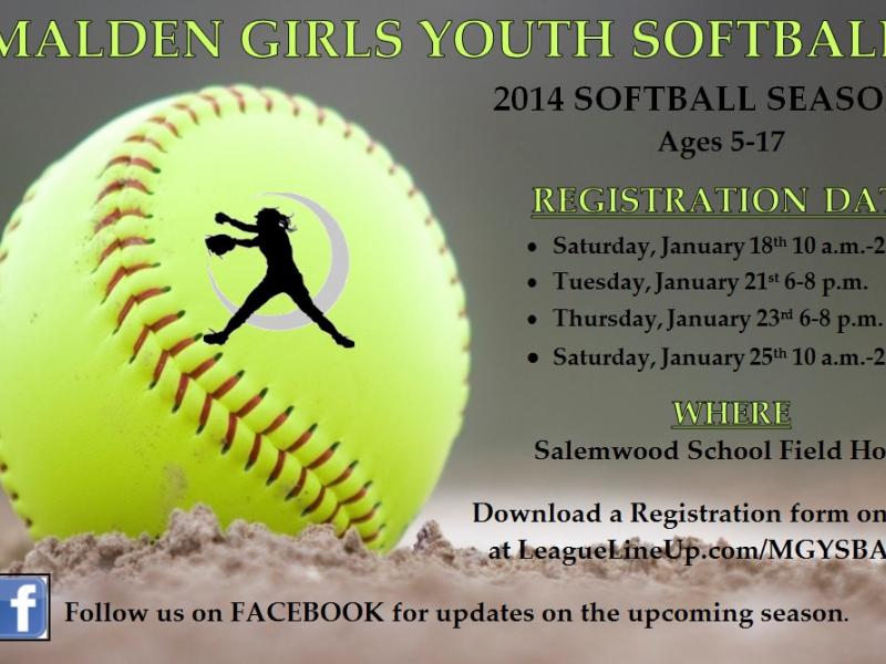 Malden Girls Youth Softball Spring Registration Malden Ma Patch