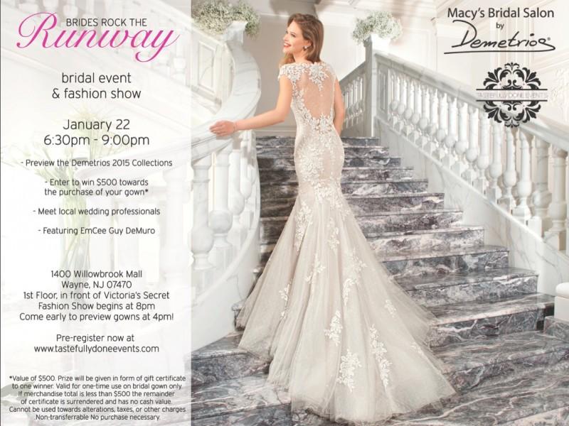 Brides \'Rock the Runway\' with Macys Bridal Salon by Demetrios in ...
