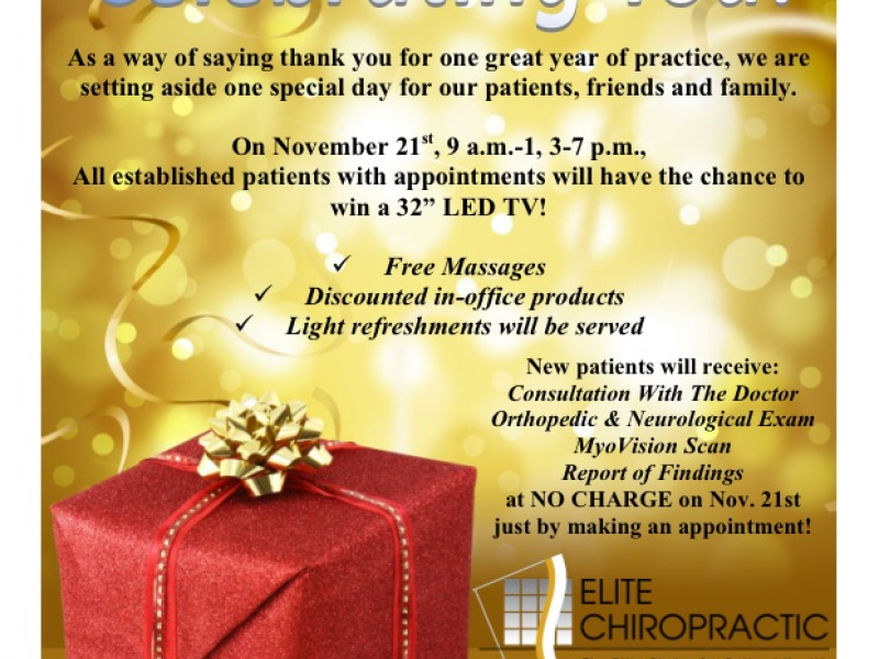 elite chiropractics one year anniversary open house