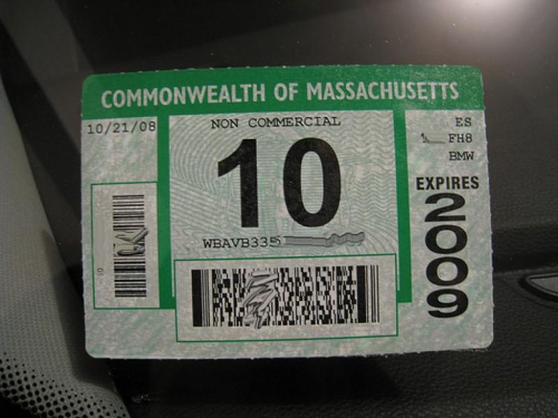 1968 Massachusetts REGISTRATION Sticker Source · Car Inspection Sticker Ma  Custom Sticker