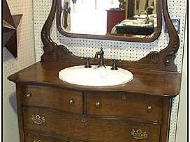 ... Challenges Of Using An Antique Bathroom Vanity 0 ...
