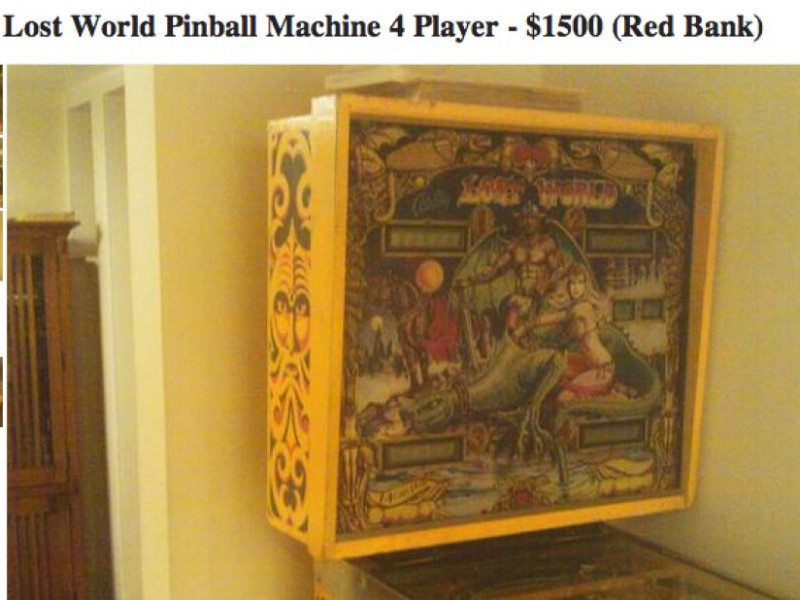 What Your Neighbors Are Selling: 1978 Lost World Pinball Machine ...