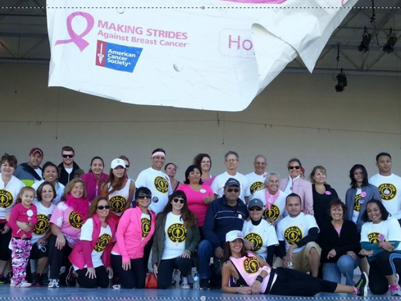 Gold's Gym Team Breast Friends Walks for Breast Cancer