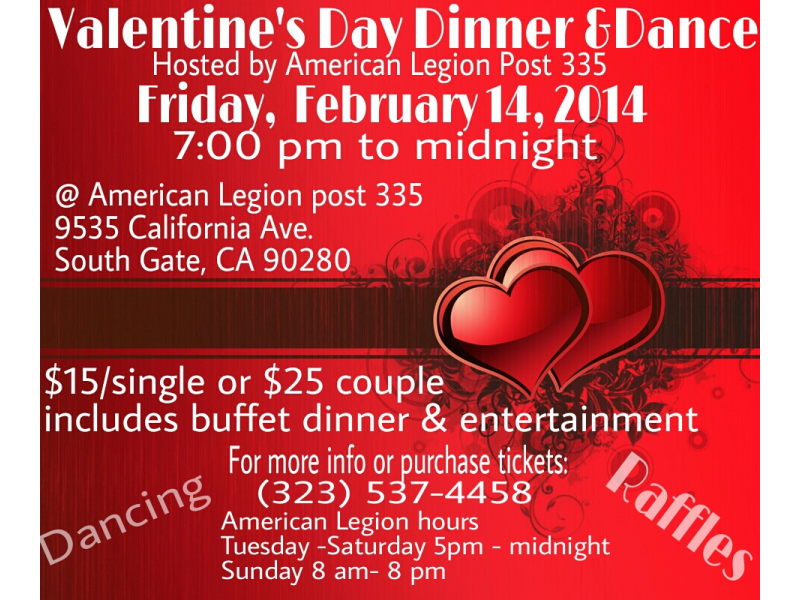 Valentine S Day Dinner And Dance South Gate Ca Patch