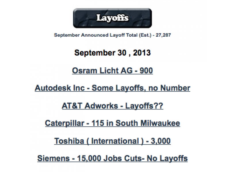 DailyJobCuts com Shows Massive Start to October Layoffs