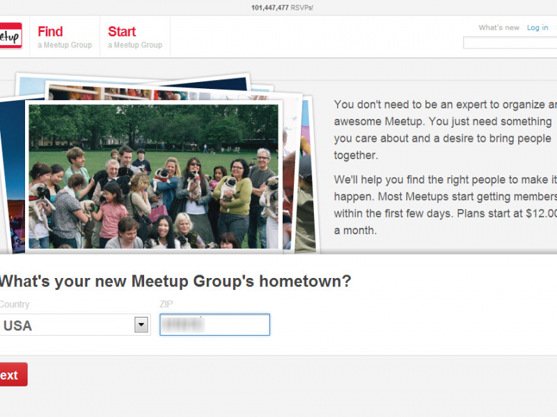 How to start a meetup group