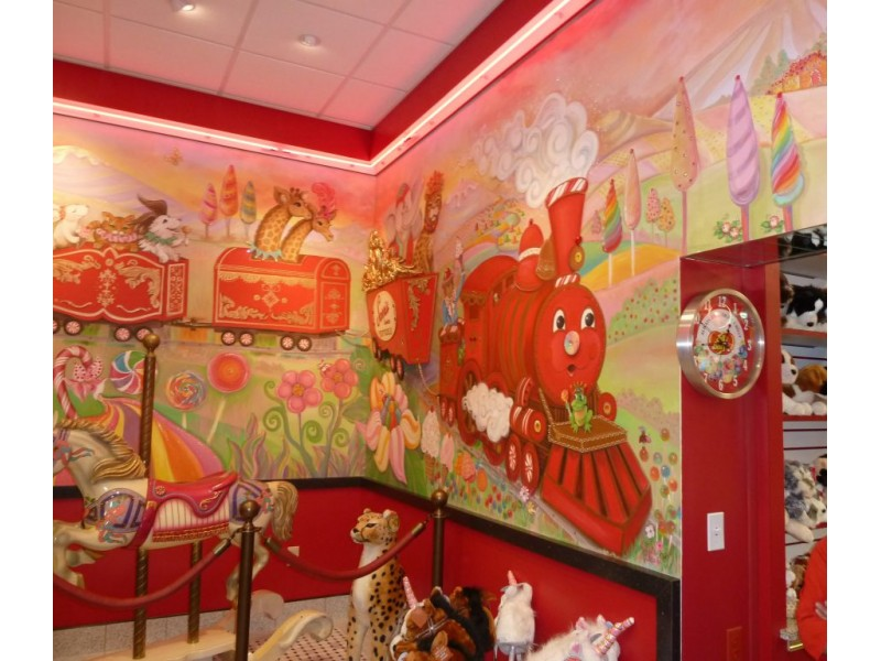 Sarris Chocolate Castle and Wall Murals are True Works of Art
