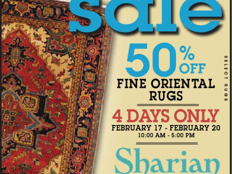 Sharian Rug Cleaning Amp Sales Presidents Day Sale 50 Off