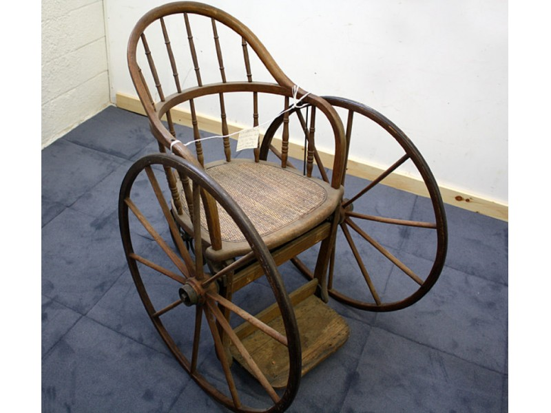 ... Antique of the Week: Historic Wicker Wheelchair-0 ... - Antique Of The Week: Historic Wicker Wheelchair Half Hollow